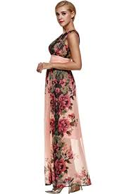 upgrated angvns evening dress women v neck flower prom party