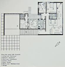 Living Room Architecture Drawing Portinho House Affonso Reidy 1950 Floor Plan Architecture