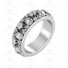 skull wedding rings photos mens skull wedding ring matvuk