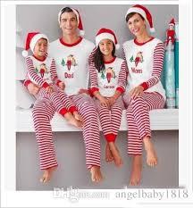 pajamas family matching clothes striped pajamas