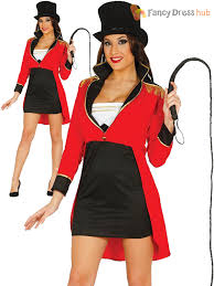 Lion Tamer Halloween Costume Ladies Ringmaster Costume Adults Circus Fancy Dress Womens Lion