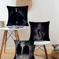 movie home decor black linen cotton decorative throw pillows case cartoon harry
