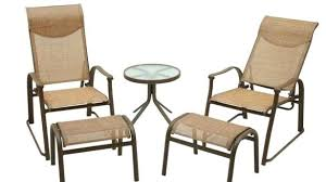 Sling Back Patio Chairs Mesmerizing Patio Furniture With Ottoman Charming Patio Chair With