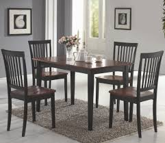 Dining Set With 4 Chairs Coaster Oakdale Cherry 5pc Dining Set 150153