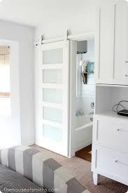 barn door to bathroom home design ideas