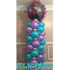 frozen balloons 7 8ft frozen spiral balloon column my custom balloons