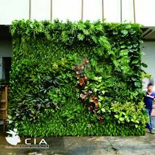 Wall Gardening System by Affordable Artificial Vertical Garden Wall System Plastic Green