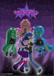 mlp flash and twiligth vs dark stars the mermaids by jucamovi1992