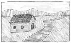 easy landscape drawings simple pencil landscape drawings related