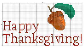 6 thanksgiving cross stitch patterns on craftsy