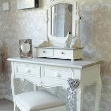 Vanity Table And Stool Set Country Ash Range Cream Dressing Table Swing Mirror And Stool