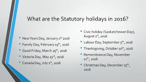 saskatchewan holidays what are the ppt