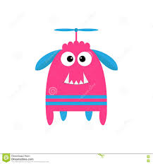cute happy halloween clip art funny monster with fang tooth and horns cute cartoon character