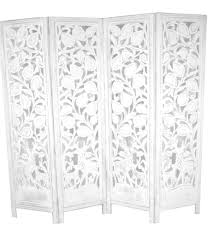 White Room Divider Screen Hand Carved Indian Stag Design Room Divider Screen White U2013 Room