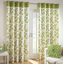 Beige And Green Curtains Decorating Interior Beautiful Green White Floral Curtain Window With Showy