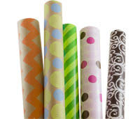 rolls of wrapping paper gift wrap tulle
