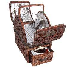 picnic baskets for two picnic basket sets for two with drawer