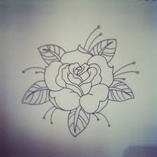 traditional rose tattoo traditional rose tattoo linework by