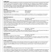 Child Care Resume Samples by Efficient Nanny Resume Template Sample Featuring Child Care Skills