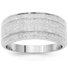 diamond wedding band for white solid gold mens diamond wedding band 0 38 ctw