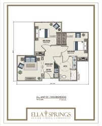 assisted living floor plans ella springs senior living community