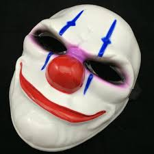 pvc scary clown mask payday 2 halloween mask for antifaz party