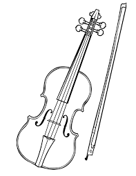 violin and bow coloring page for coloring pages eson me