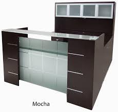 Front Reception Desk U Shaped Glass Front Reception Desk W Hutch Kicsi Recepció