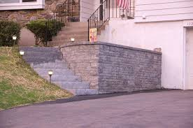 Retaining Wall Stairs Design Driveway Retaining Wall Granite Staircase Fischer Landscape