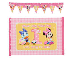 baby minnie mouse 1st birthday 2 minnie s 1st birthday high chair decoration