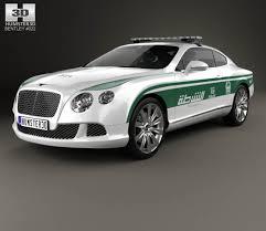 bentley dubai bentley continental gt police dubai 2013 3d model hum3d
