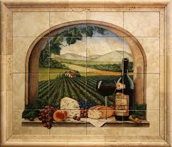 tile murals for kitchen backsplash ceramic tile murals for kitchen or barbeque backsplash and