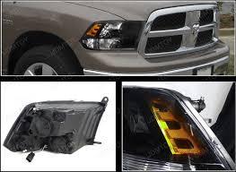 dodge ram headlight 09 11 dodge ram black housing style reflector headlights