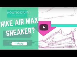 how to sketch a sneaker nike air max the 1 minute tutorial
