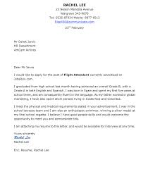 flight attendant cover letter example cabin crew cover letter