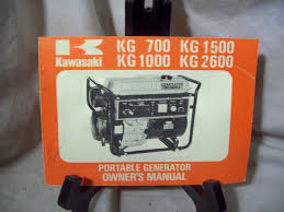 kawasaki kg 700 1500 1000 2600 portable generator owner u0027s manual