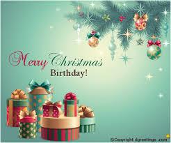 Merry Birthday Card Merry Christmas Birthday Christmas Birthday Cards