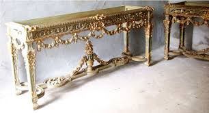 Large Console Table Louis Xiv Rococo Style Carved And Gilded Large Console Table