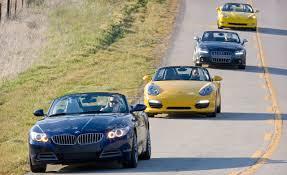 corvette z4 car and driver 2009 porsche boxster s vs bmw z4 sdrive35i audi