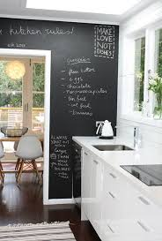 galley kitchen design with blackboard decoration and ceiling