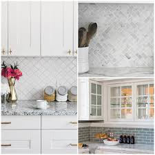 8 achievable ways to give your kitchen a facelift big chill stick on tiles are an easy diy option or you can polish and paint your current backsplash even adding painted faux brick for effect