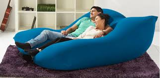Huge Pillow Bed Oversized Bean Bag Bed