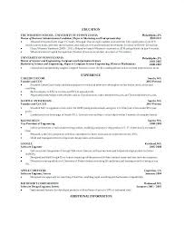 master resume template computer science resume template simple computer science internship