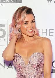 pinks current hairstyle dannii minogue dishes on her new pink hair colour beauty crew