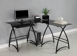 modern black computer desk stunning modern black desk ideas with two black table design beside