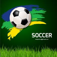 soccer ball background and grass vector free download