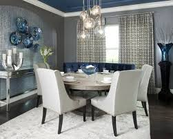 Grey And White Dining Room Houzz - Blue and white dining room