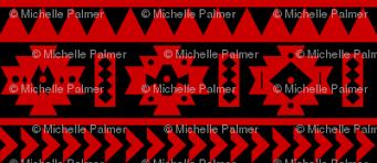 uga red and black aztec tribal print giftwrap seachelle