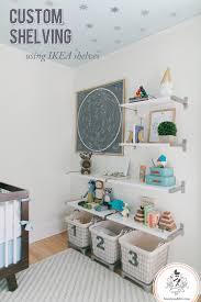 Wall Shelf For Kids Room by Reed U0027s Nursery Shelves Custom Wall Shelving Using Ikea Shelves