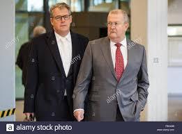 porsche ceo the former porsche ceo wendelin wiedeking r and his lawyer